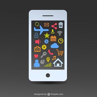 Freie weiße Smartphone flaches Design