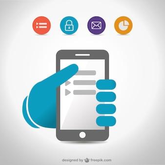 Freien flachen Smartphone-Darstellung