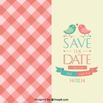 Freien Vektor Hochzeitseinladung