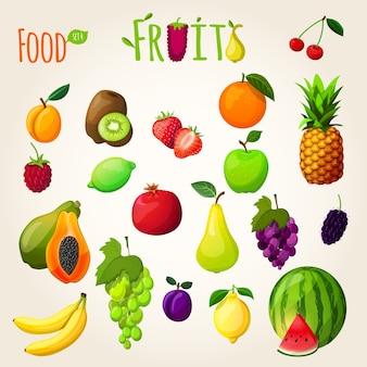 Frische Früchte gesetzt