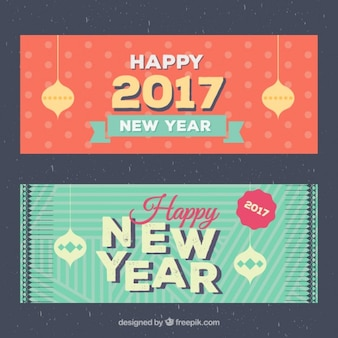 Frohes Neues Jahr 2016 Banner-Pack