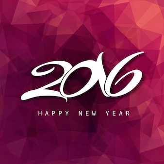 Frohes neues Jahr 2016 Karte