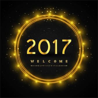 Frohes Neues Jahr 2017 Fantastische Hintergrund