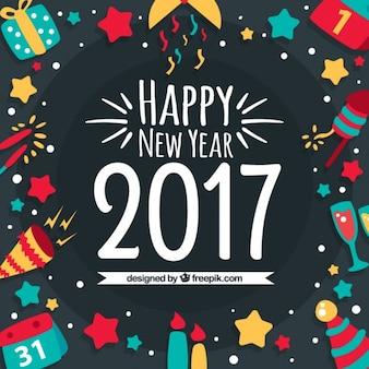 Frohes Neues Jahr 2017 Hintergrund