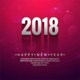 Frohes Neues Jahr 2018 Hintergrund
