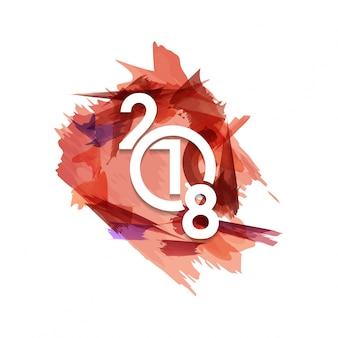 Frohes neues Jahr 2018 Text Design Vektor-Illustration Weiß Farbe Typografie Weißer Hintergrund