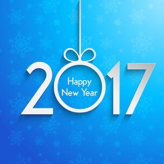Frohes Neues Jahr Hintergrund mit Schneeflocken-Design
