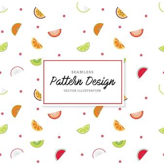 Früchte Muster Hintergrund