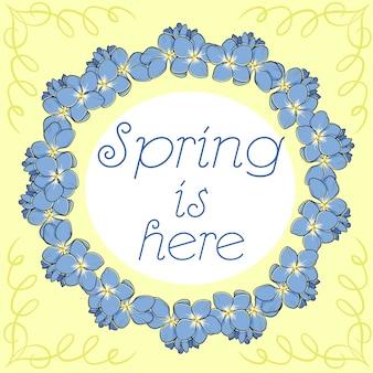 Frühling ist hier Hintergrund