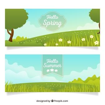 Frühlingslandschaft Banner