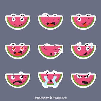 Fun Pack von Wassermelone Aufkleber