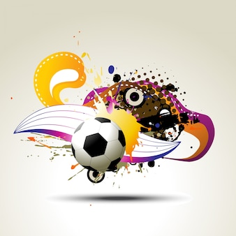 Fußball Vektor künstlerischen Design Illustration