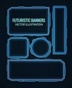 Futuristisch glühenden Hintergrund Vektor-Illustration