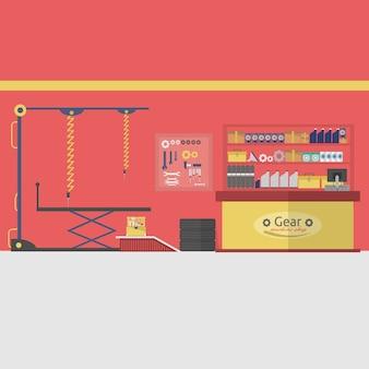 Garage Hintergrund-Design