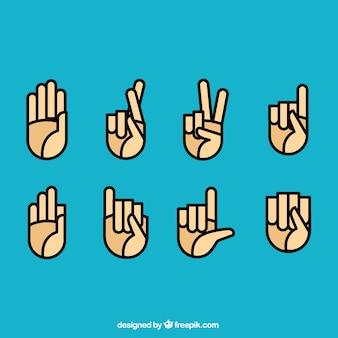 Gebärdensprache Symbole