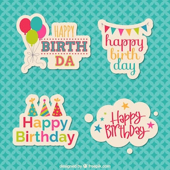 Geburtstag Aufkleber
