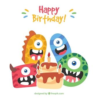 Geburtstag Hintergrund der schönen Monster