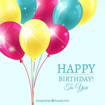Geburtstag Hintergrund mit bunten Luftballons