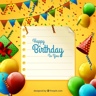 Geburtstag Hintergrund mit Party-Elemente