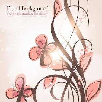 Geburtstag Liebe Blumenkarte Grafik