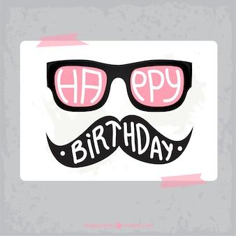 Geburtstagskarte hipster