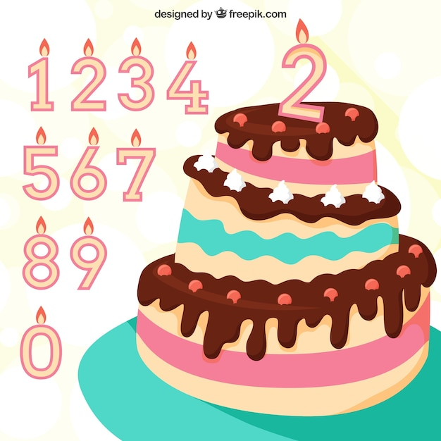 Geburtstagstorte mit 4 kerzen