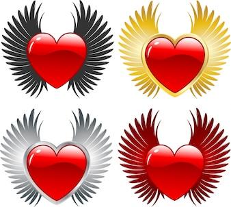 Geflügelte Herzen