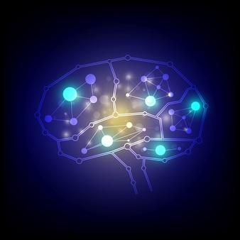 Gehirnverbindungen Hintergrund