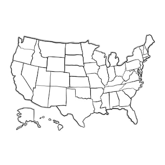 Gekritzel USA Karte