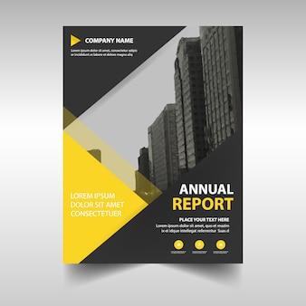 Gelbe kreative Jahresbericht Buchumschlag Vorlage