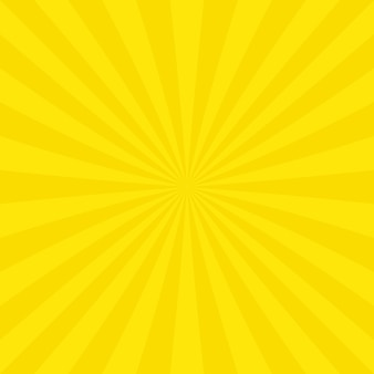 Gelber Sunburst Hintergrund Design