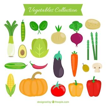Gemüse-Auflistung