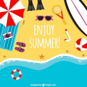 Genießen Sie den Sommer Hintergrund