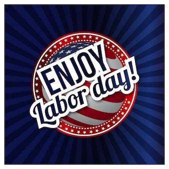 Genießen Sie Labor-Tag USA labpr Tagplakatkarte