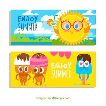 Genießen Sie Sommer-Banner