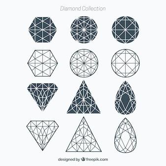 Geometrische Diamant-Sammlung