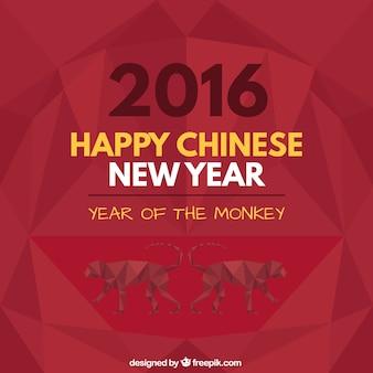 Geometrische frohes neues Jahr Hintergrund