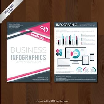 Geometrische Geschäftsbroschüre im abstrakten Stil
