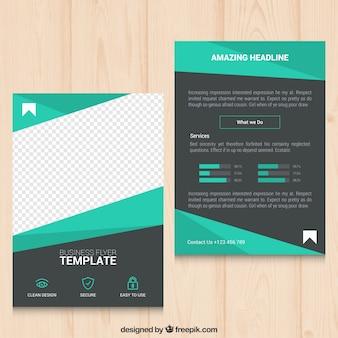 Geometrische grüne Geschäfts-Flyer