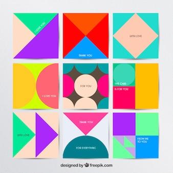 Geometrische Karten Sammlung