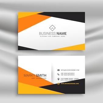 Geometrischen gelb und schwarz Visitenkarten-Design