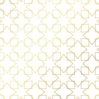 Geometrischen goldenen Linien Muster Hintergrund