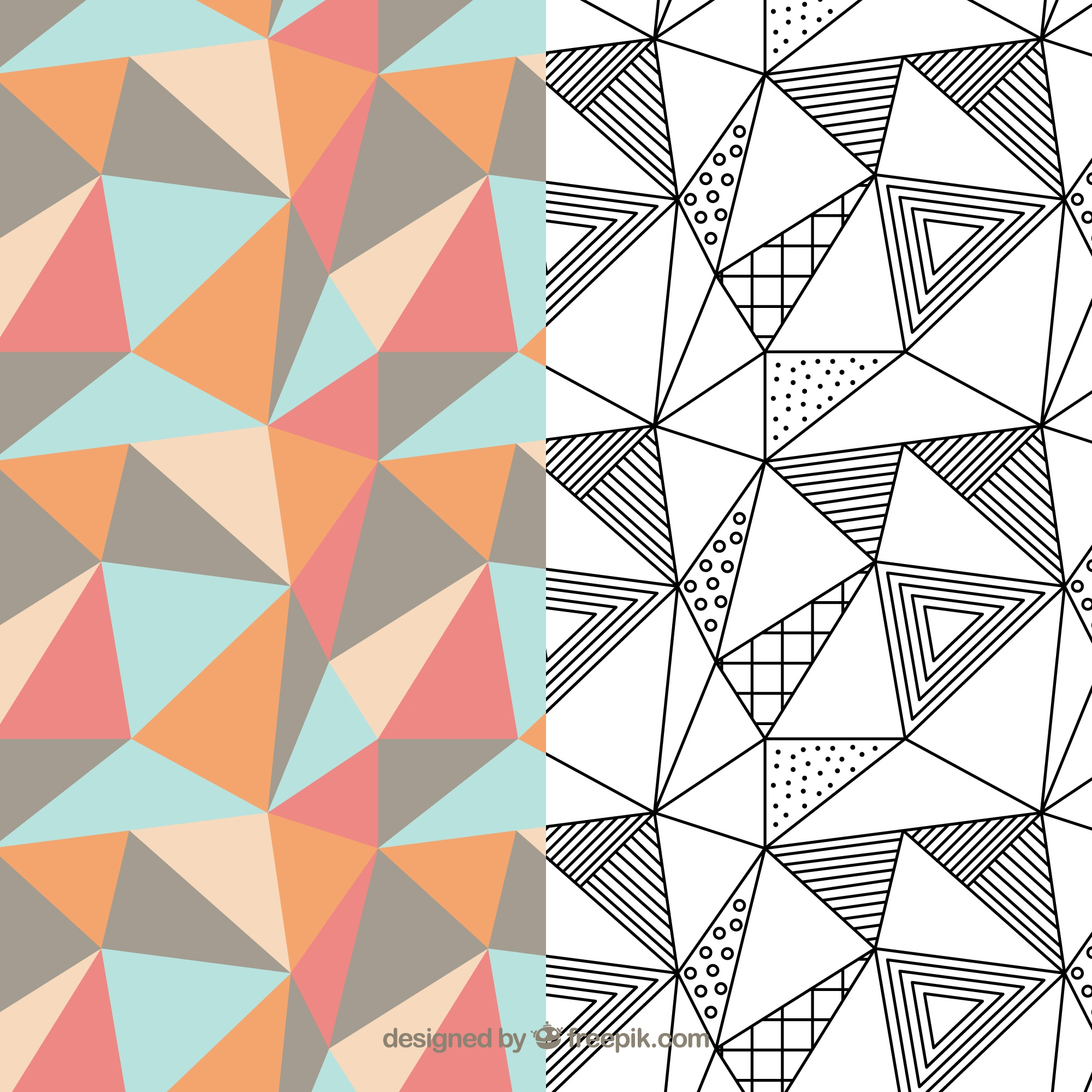 Geometrisches Muster-Pack