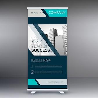 Geschäft standee aufrollen Banner Vektor-Design