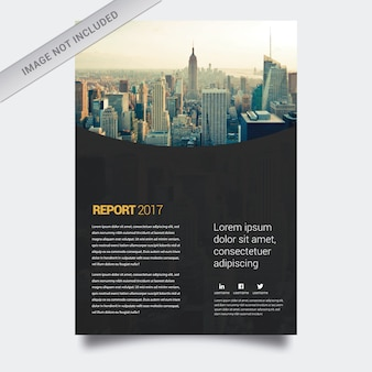 Geschäftsbericht schwarzes Design