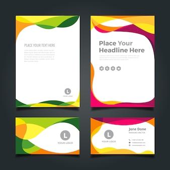 Geschäftsdrucksachen Design
