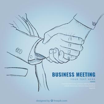 Geschäftsvereinbarung Skizze Hintergrund