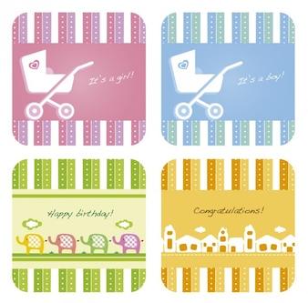 Geschenkgutscheine Sammlung für Baby-Dusche