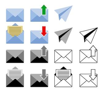 Gesendet und Get Mail Icon