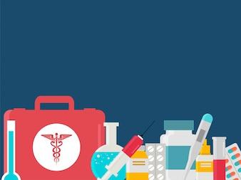 Gesundheit und Medizin Konzept mit medizinischen Geräten.